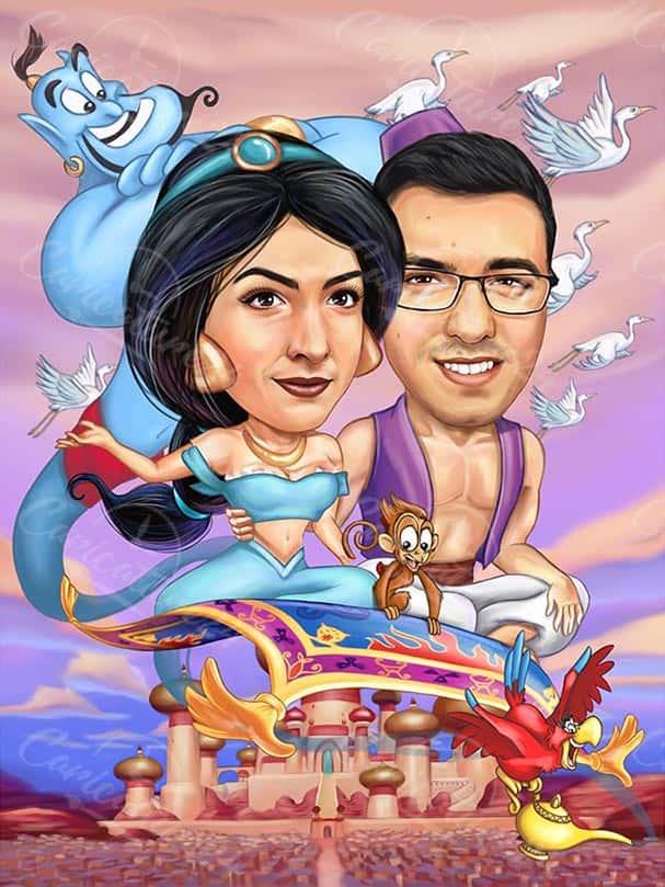 Aladdin Disney Caricature