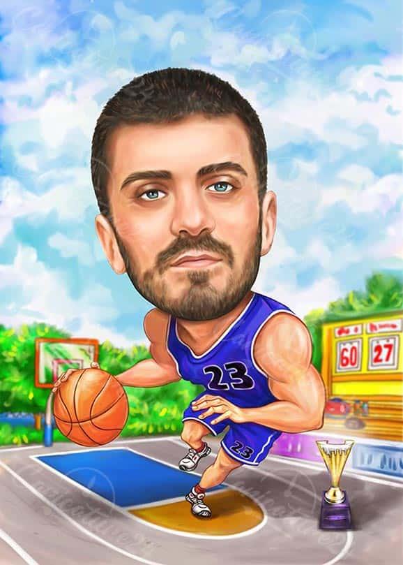Basketball Player Caricature