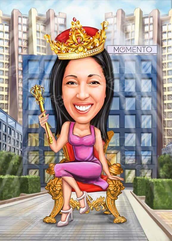 Beautiful Princess Caricature from Photo
