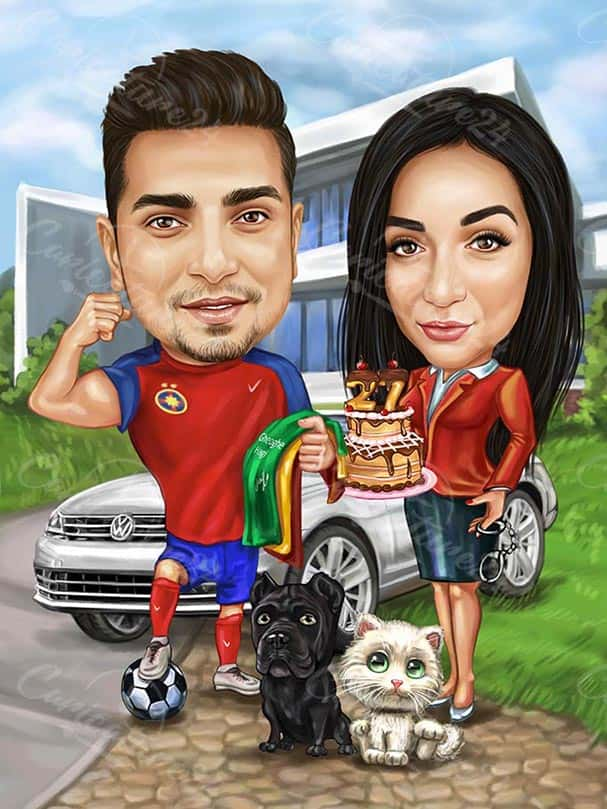 Birthday Custom Caricature from Picture