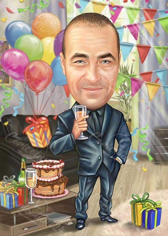 Birthday Male Caricature