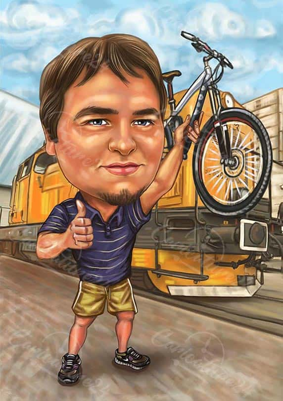 Caricature for a Biker