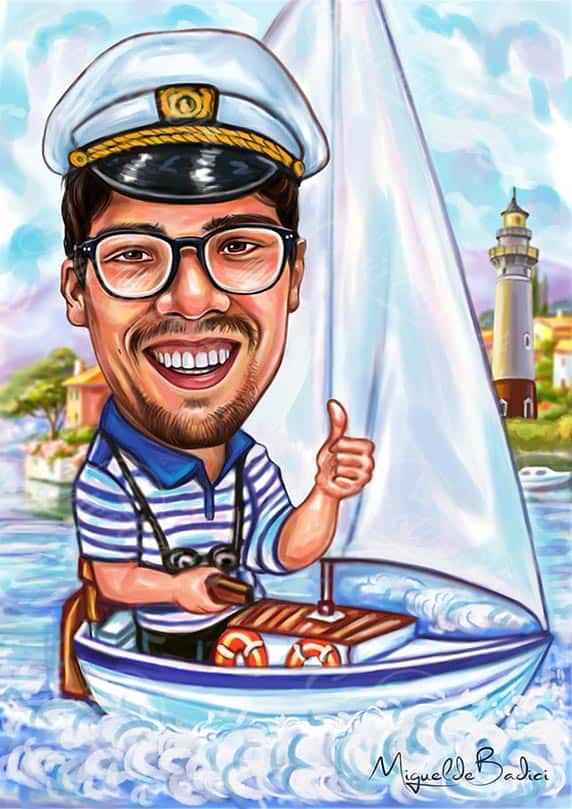 Caricature for Seaman Design from Photo