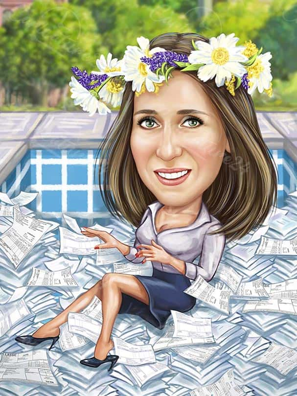 Caricature Gift for Accountant