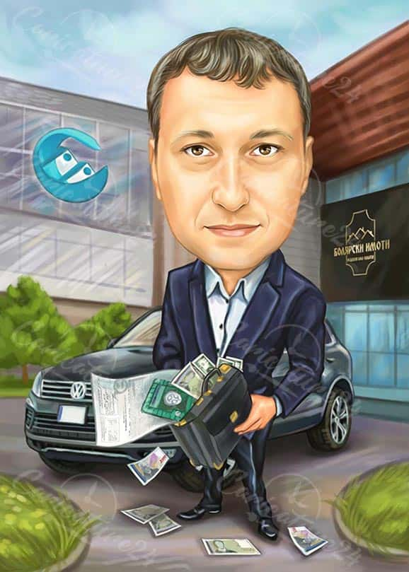 Colleague Businessman Caricature