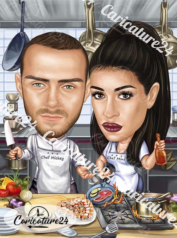 Cooking Caricature for Chefs