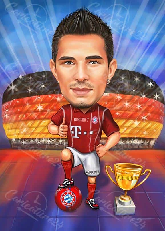 Football Player Caricature in Germany