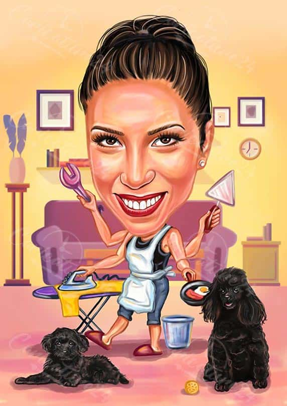 Housewife Caricature from Photo