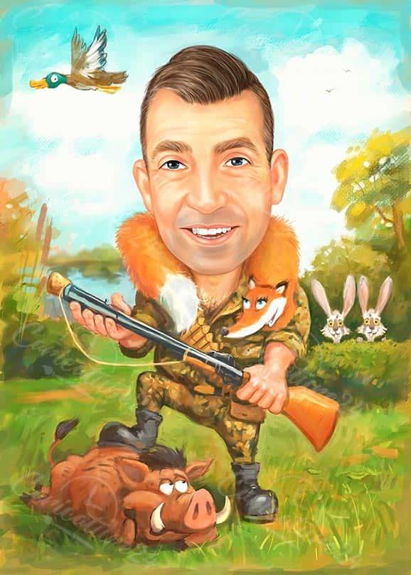 Hunter Caricature