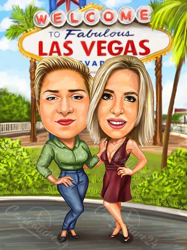 Las Vegas Vacation Caricature