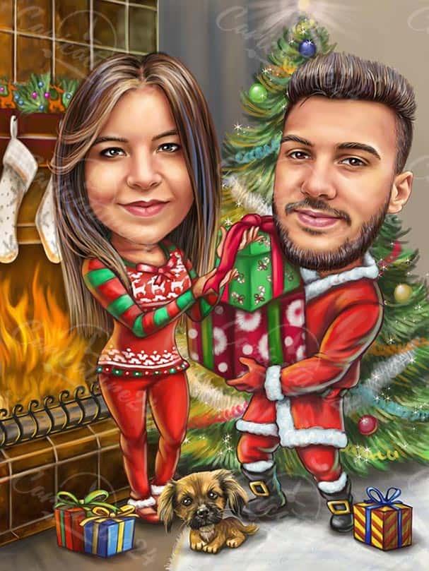 Merry Christmas Custom Caricature