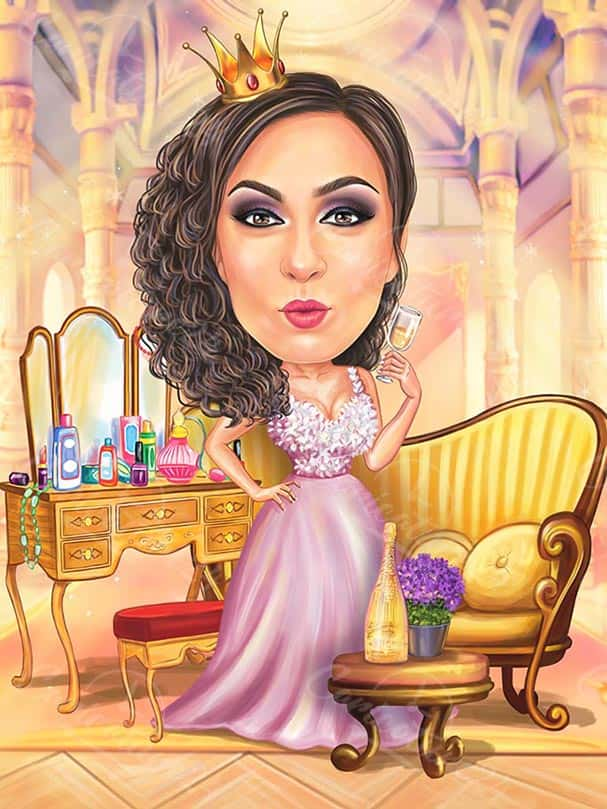 Princess Caricature Luxury Style Caricature