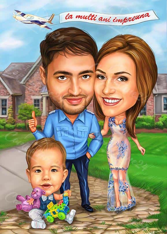 Wedding Anniversary Gift Caricature