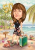 50th Birthday Beach Caricature