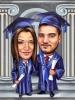 Best Friends Graduation Caricature