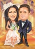 Best man and Maid of Honer Caricature Gift