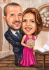 Best man and Maid of Honer Caricature