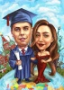 Boy Graduation Caricature