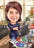 Business Woman Caricature for Boss Day
