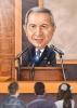 Businessman Caricature in Black Suit
