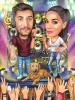 Caricature for Couple Music Lovers