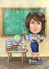 Chemistry Female Teacher Caricature Drawing