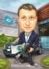 Colleague Businessman Caricature