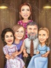 Custom Family Caricature from Photo