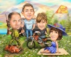 Family Caricature for Hunter