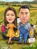 Family Farmers Caricature