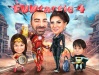Fantastic 4 Caricature with Iron Man, Catwoman, Wonder Woman, Batman