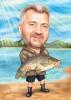 Fisherman Caricature