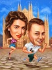 Funny Caricature for Personalized Engagement Present