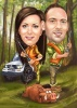 Hunters Caricature for Couple