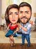 Love Couple Musicians Caricature
