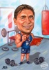 Man Caricature in the Fitness