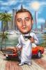 Man in Dubai Caricature