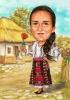 Native Folk Woman Caricature