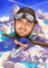 Pilot Caricature Drawing from Your Photo