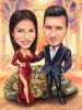 Rich Couple Caricature Picture