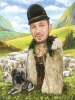 Sheep Caricature with Farmer