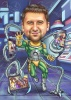 The Green Lantern Superhero Caricature