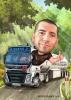 Truck Driver Caricature for Birthday