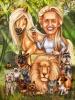 Veterinarian Gift Caricature with Animals