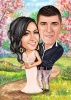 Wedding Caricature Gift for Best Friends
